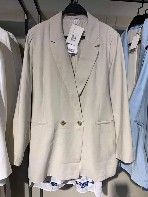 H&M oversize даавуун пиджак /beige/