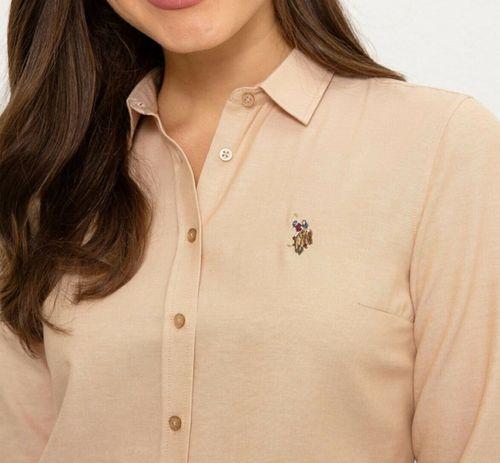 U.S Polo эмэгтэй бэйж өнгөтэй цамц