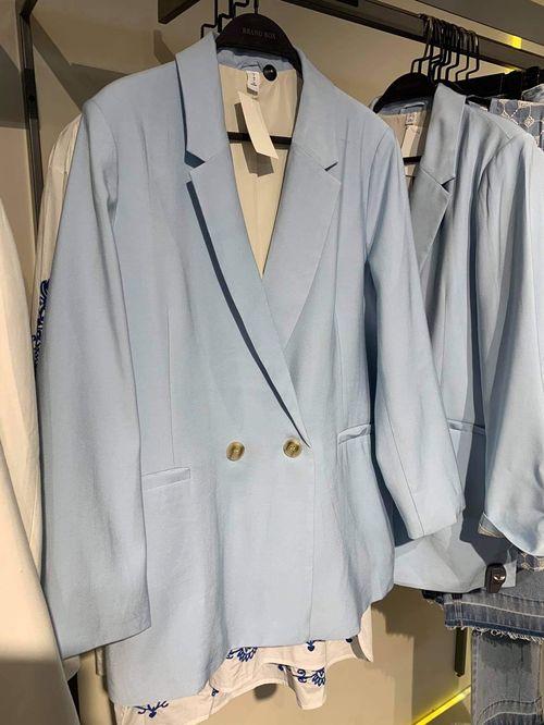 H&M oversize даавуун пиджак/цэнхэр/