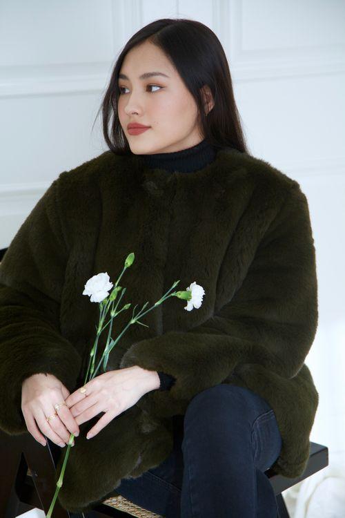 Emerald Fur Coat
