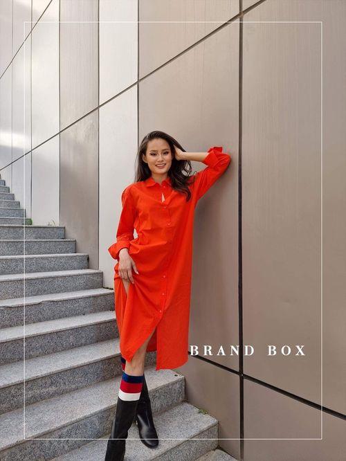 H&M урт улаан срочкан dress