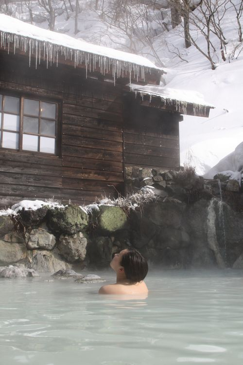 What is like experiencing hot springs… in winter?
